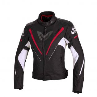 Motorcycle Jacket Fuel Black/Red/White