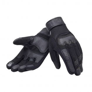 Smoke motorcycle gloves Black