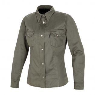 Wood Lady motorcycle shirt Olive Green