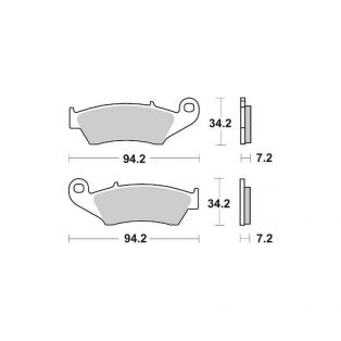 694SI Offroad Sinter Brake Pads