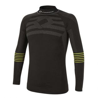 4 Season Long Sleeve Jersey Black/Yellow Fluo