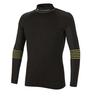 Windshield Long Sleeve Under Shirt Black/Yellow Fluo