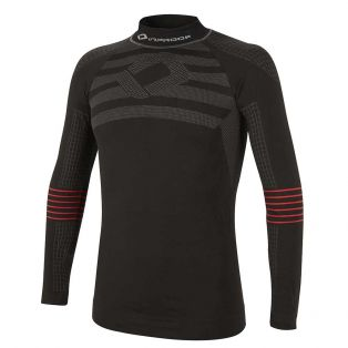 Warm Long Sleeve Under Shirt Black/Red
