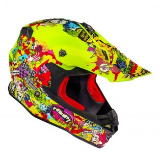 Casco HP8.21 Cross Madness Multi Giallo