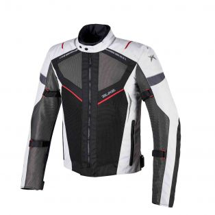 Airtour Aqvadry Motorbike summer jacket Ice/Anthracite/Black