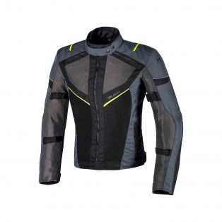 Airtour Aqvadry Motorbike summer jacket for Ladies Anthracite/Black/Fluo Yellow