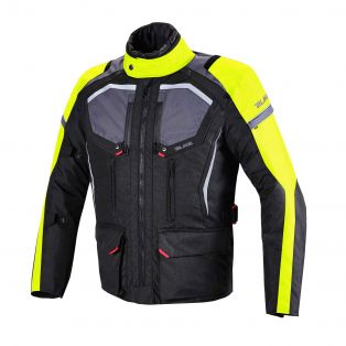 Wander Jacket, Aqvadry for man Black/Dark Grey/Yellow Fluo