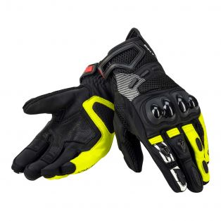 Guanti gear air CEE pelle NERO / GIALLO FLUO / NERO