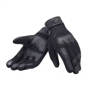 Smoke motorcycle gloves for lady Black