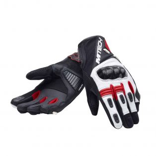 Falcon motorcycle gloves for lady Black/White/Red