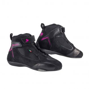 Ventex Air Motorcycle shoes for Ladies Black/Fuchsia