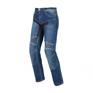 Track motorcycle trousers Stone Washed