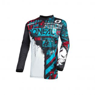 Element Ride MY21 Jersey for kids Black/Blue