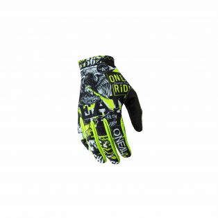 Matrix Attack My20 Off-road Gloves for kids Black/Fluo Yellow