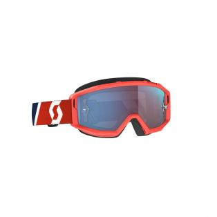 Primal Chrome Motocross Goggles Red/Blue